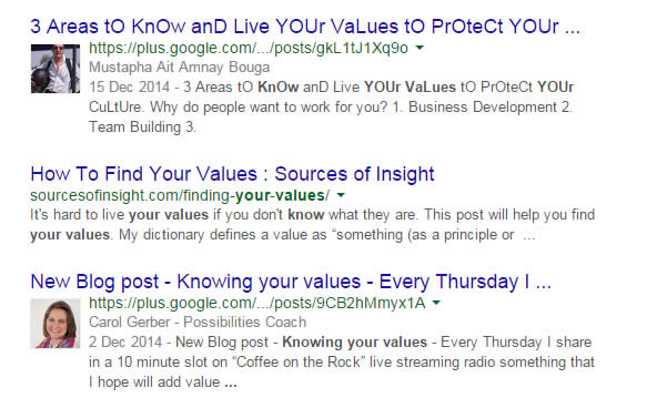 knowingyourvalues-search